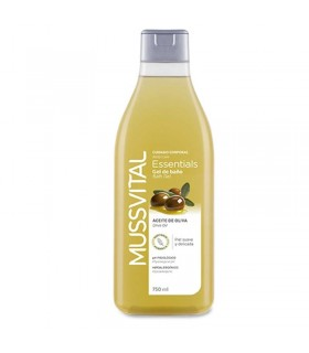 GEL BAÑO ACEITE DE OLIVA  MUSSVITAL ESSENTIALS 750 ML