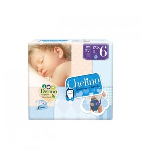 PAÑAL INFANTIL CHELINO FASHION AND LOVE T- 6 (17 - 28 KG) 27 PAÑALES
