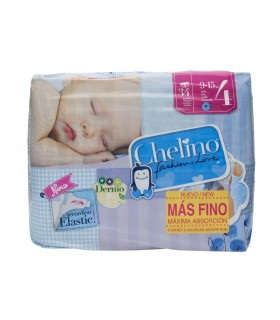 PAÑAL INFANTIL CHELINO FASHION AND LOVE T- 4 (9 - 15 KG) 34 PAÑALES