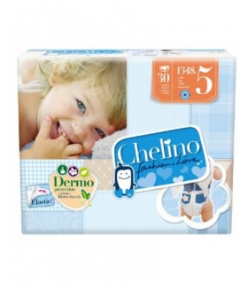 PAÑAL INFANTIL CHELINO FASHION AND LOVE T- 5 (13 - 18 KG) 30 PAÑALES