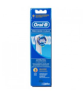 CEPILLO DENTAL ELECTRICO RECARGABLE ORAL B PRECISION CLEAN RECAMBIO EB 17-3 3 U