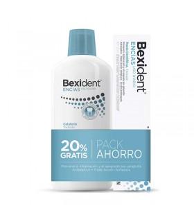 BEXIDENT PACK ENCIAS USO DIARIO COLUTORIO 500 ML Y PASTA DENTAL 125 ML