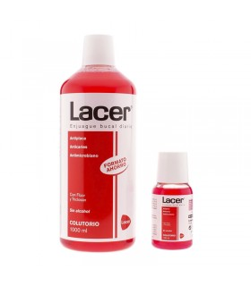 LACER COLUTORIO SIN ALCOHOL 1L + 100 ML