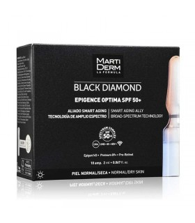 MARTIDERM BLACK DIAMOND EPIGENCE OPTIMA SPF 50+  10 AMPOLLAS
