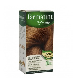 FARMATINT GEL COLORACION PERMANENTE 6N RUBIO OSCURO 130 ML