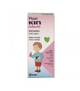 FLUORKIN ENJUAGUE BUCAL INFANTIL ANTICARIES SABOR MENTA 100ML