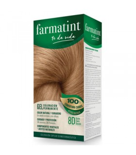 FARMATINT GEL COLORACION PERMANENTE RUBIO CLARO DORADO 8D 130 ML.