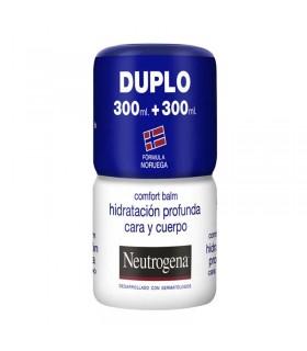 NEUTROGENA DUPLO COMFORT BALM HIDRATACIÓN PROFUNDA CARA Y CUERPO 300ML + 300ML