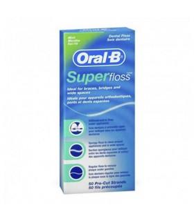 ORAL-B SUPERFLOSS 50 UNIDADES